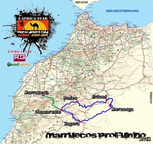 Mapa ruta marruecos profundo