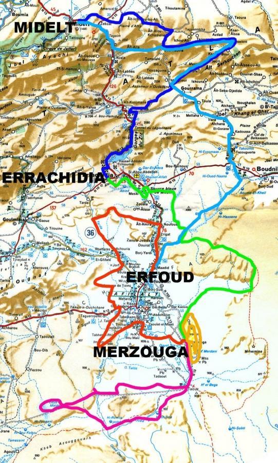 trazado itinerario